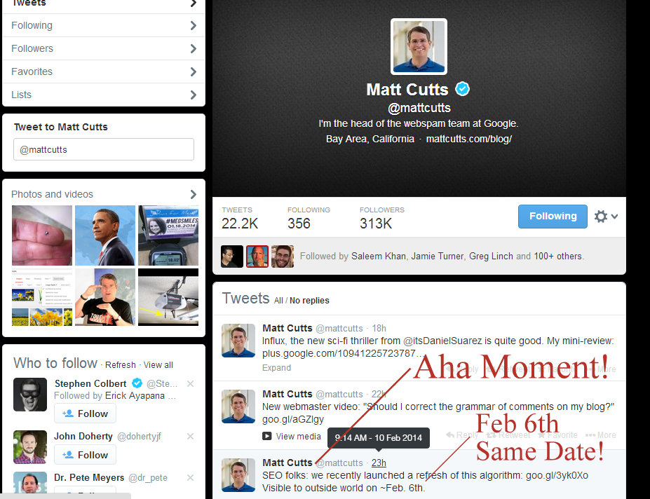 Matt Cutts Twitter SEO How To Find WHY Traffic Dropped in Google and Bing!